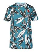 Men's Ted Baker Eldon Leaf Print Cotton T-Shirt