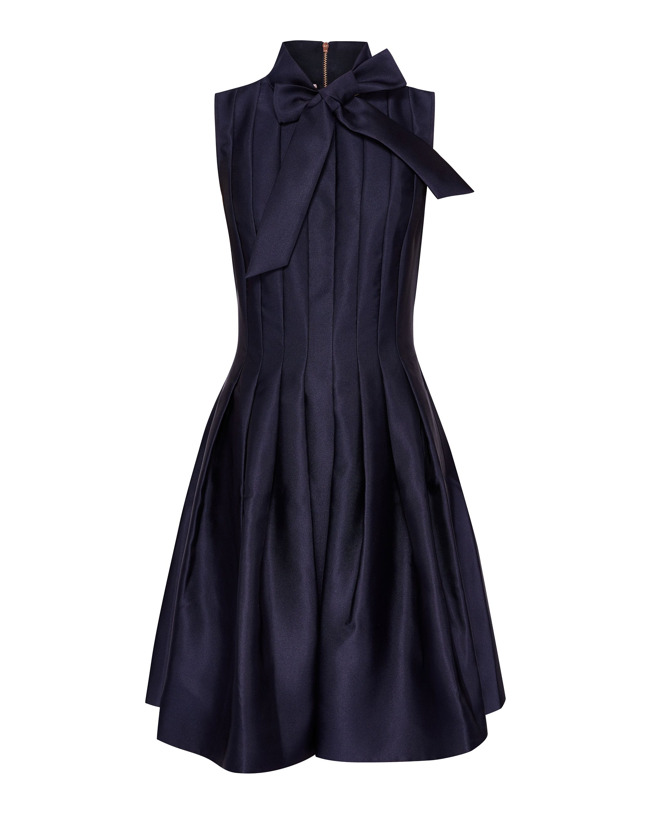 Ted Baker Doora Bow Tie Neck Aline Dress