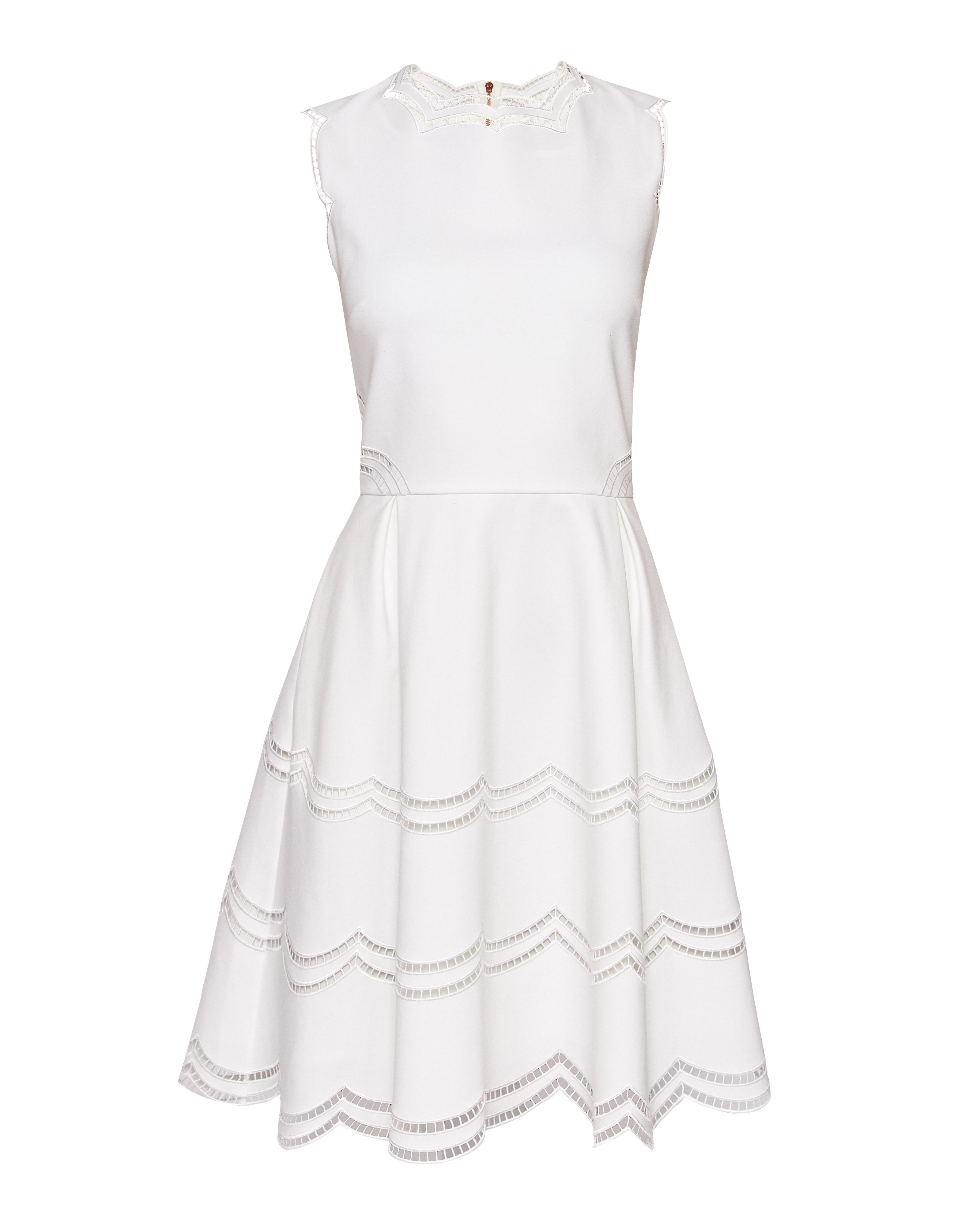 Cammey Embroidered Scallop Detail Skater Dress by Ted Baker