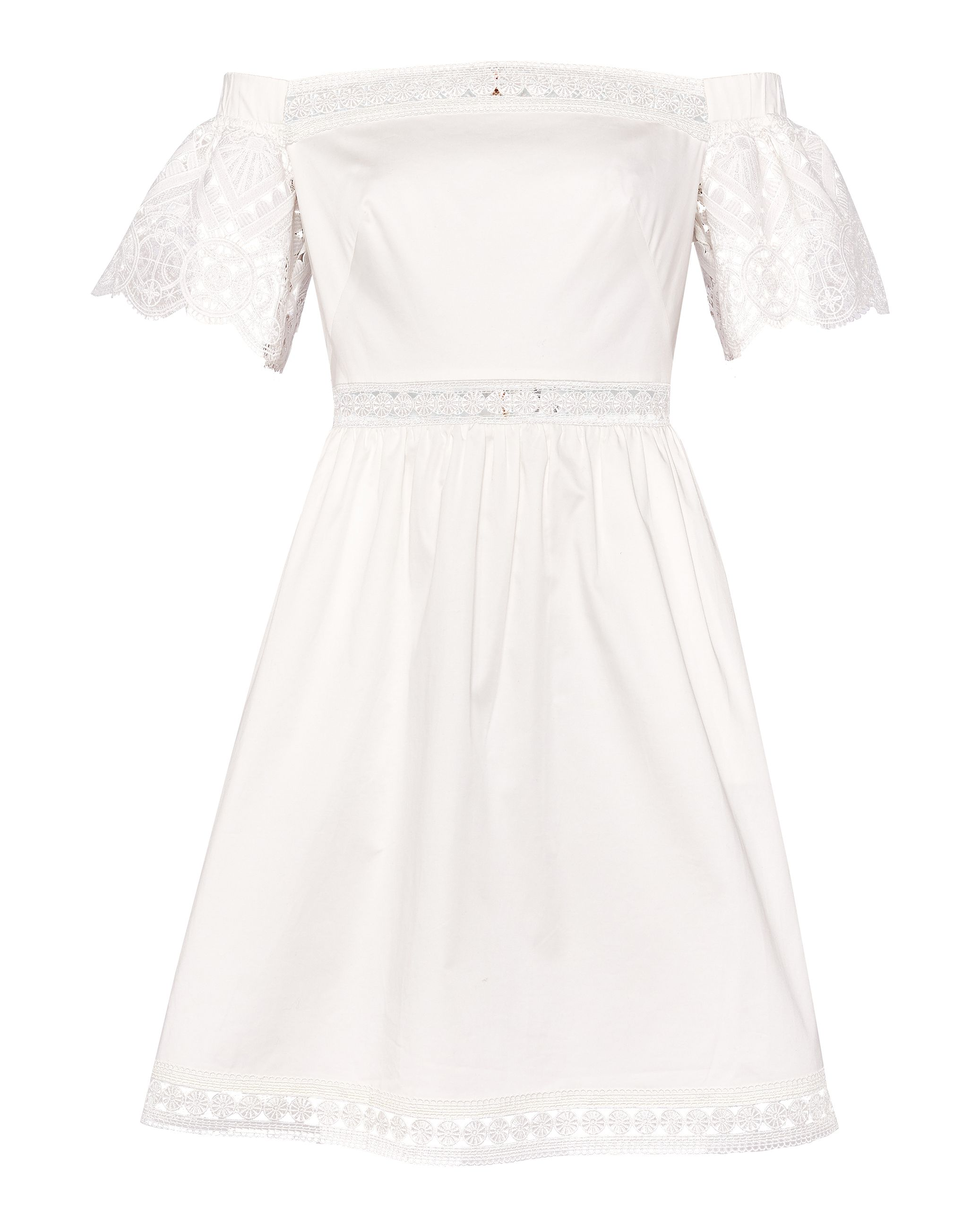 Loulah Geo Lace Bardot Dress by Ted Baker
