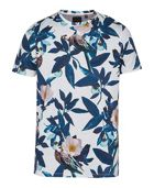 Men's Ted Baker Duckegg Bird Print Cotton T-Shirt