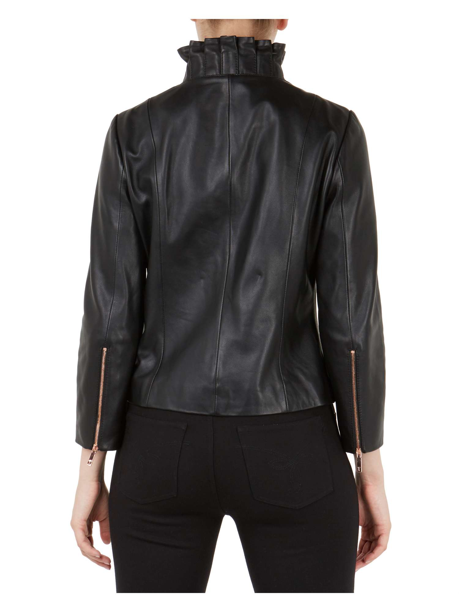 Ted Collar Frill Jacket Baker Trekma Leather wFqgxY