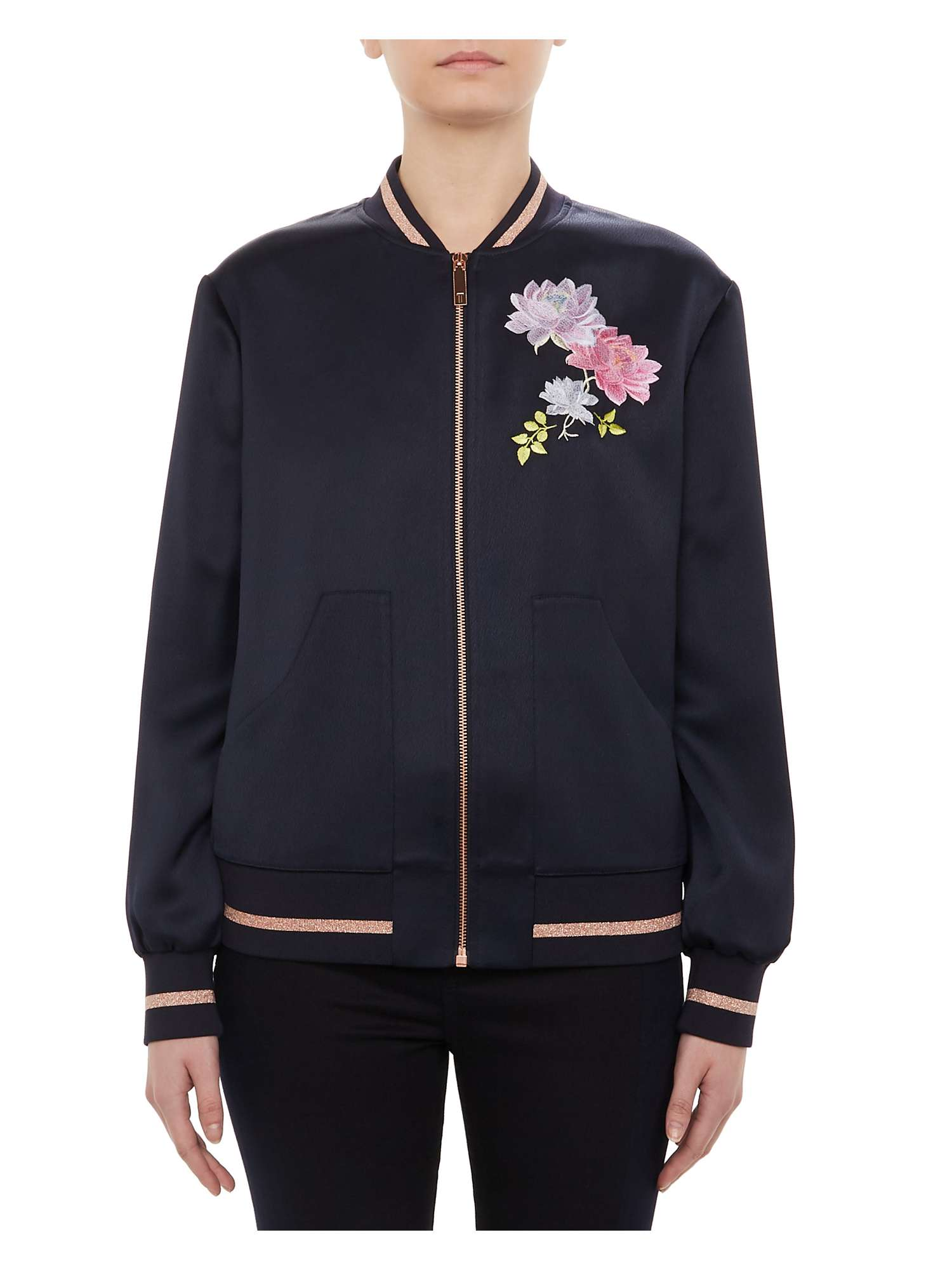 Embroidered Ted Baker Ruuthe Bomber Jacket q44T8Ew
