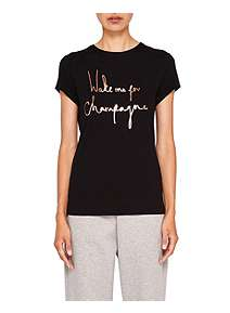 ... Ted Baker Lolyata Champagne Logo Fitted T-Shirt