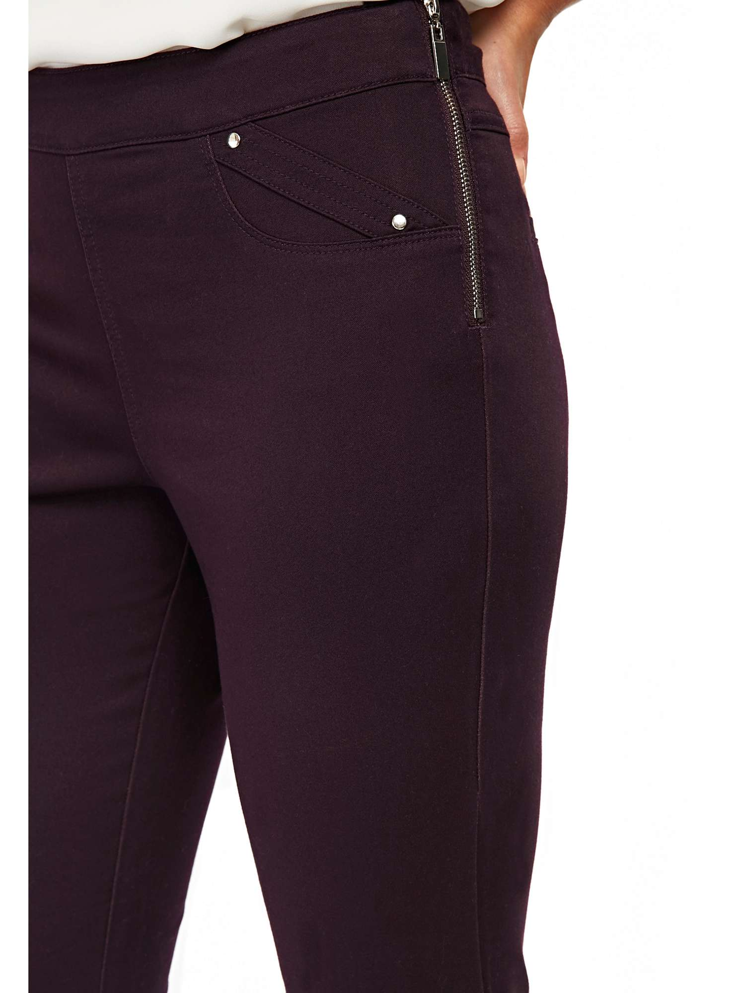Zipped Wallis Side Purple Trouser Petite 1vqRwS