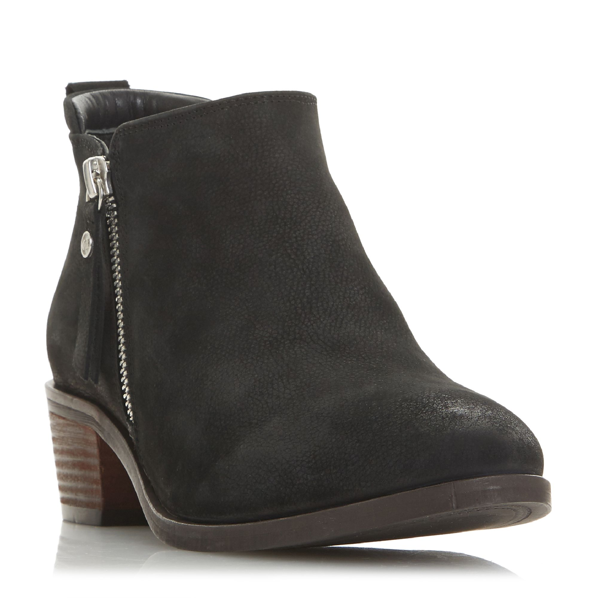 Dune Putnam Side Zip Cropped Ankle Boots ...