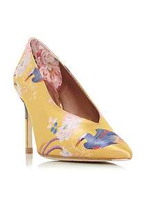 1e7aa7cd71321c Ted Baker Jazimn Mid Heel Floral Print Court Shoes ...