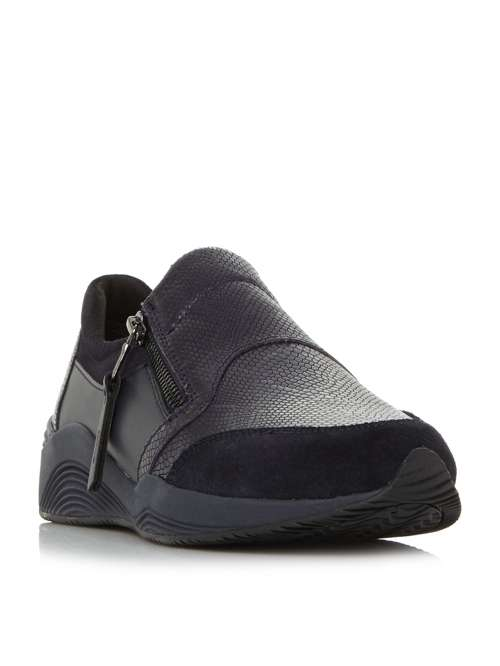 Geox D Omaya A Side Zip Trainers - House of Fraser 8545daa0d72