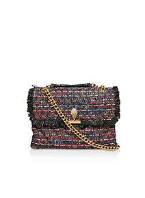 9fd578966a7 Kurt Geiger London Tweed Lg Kensington X Bag Cross Body Bag ...