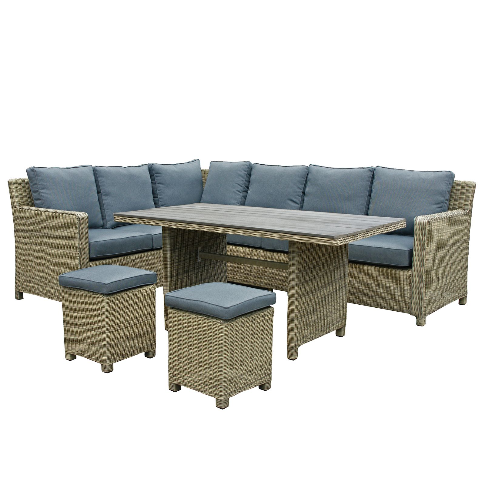 Oseasons Hampton Rattan 8 Seater Sofa Dining Corner Set In   House Of Fraser Part 49