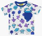 Fabric Flavours Kids Mr Men Repeat Print Blue