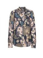 Smart & Joy Bohemian Feather Print Shirt