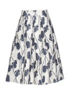 Smart & Joy Flower Jacquard Puffy Midi Skirt
