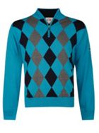 Men's Cutter and Buck Zip neck argyle lined