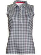 Calvin Klein Golf Checkered Sleeveless Polo