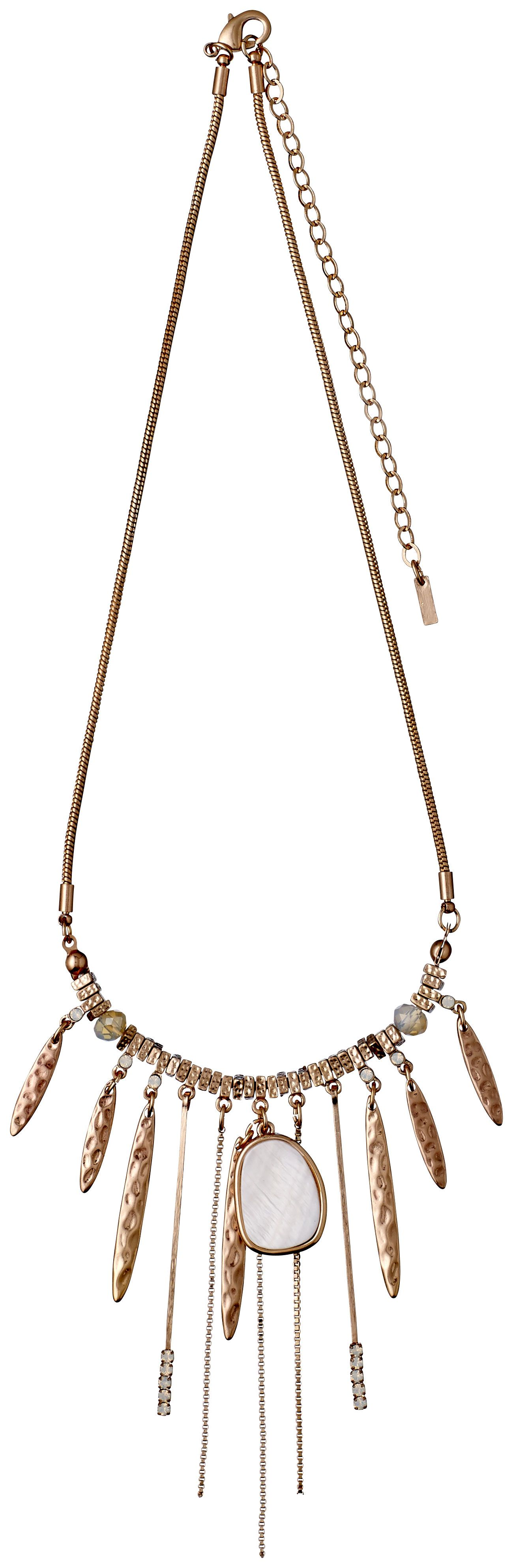 Pilgrim Deluxe Rose Gold Collarbone Necklace House of Fraser