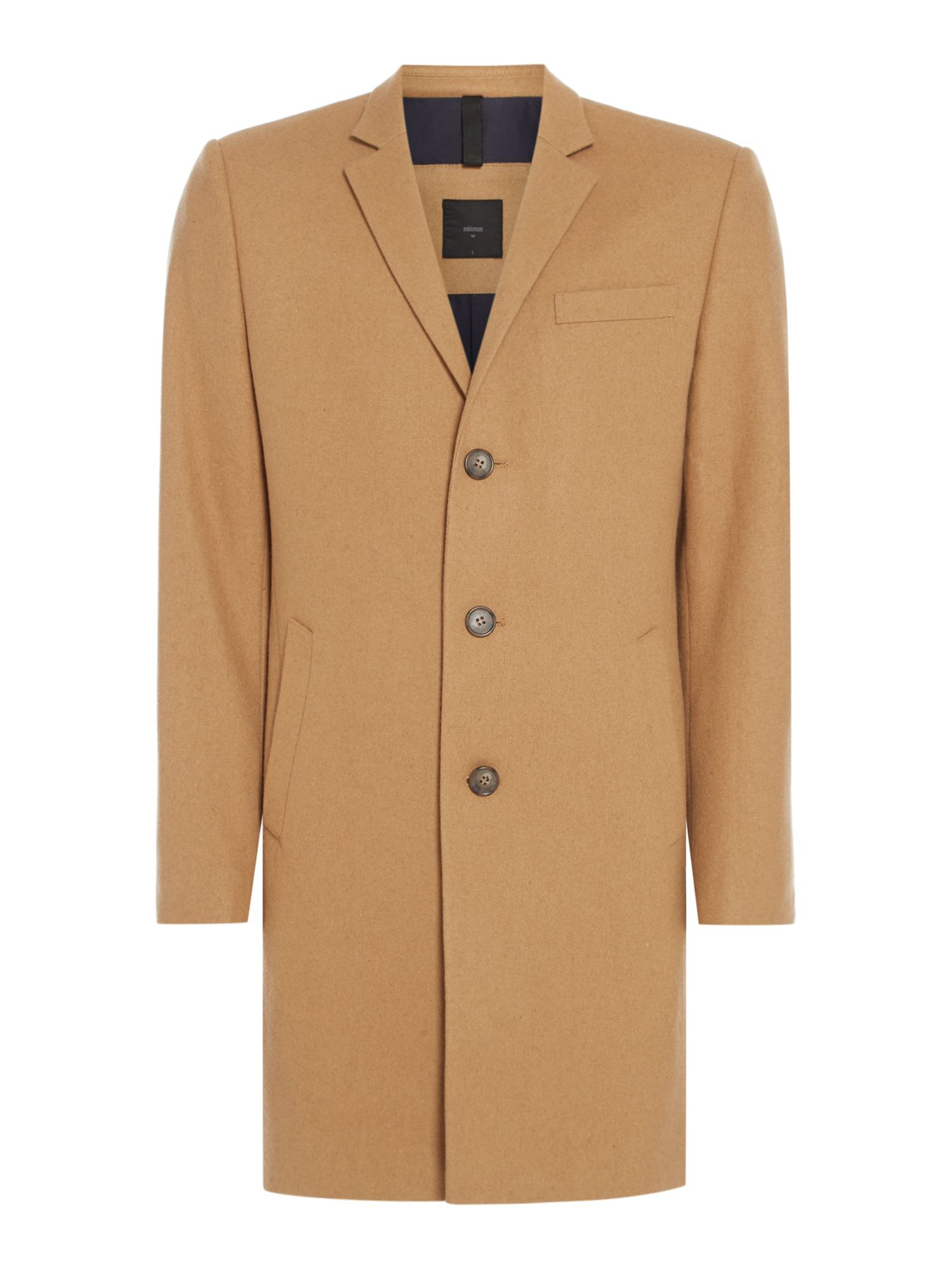 Men's Vintage Style Coats and Jackets Mens Minimum Classic wool coat White £170.00 AT vintagedancer.com