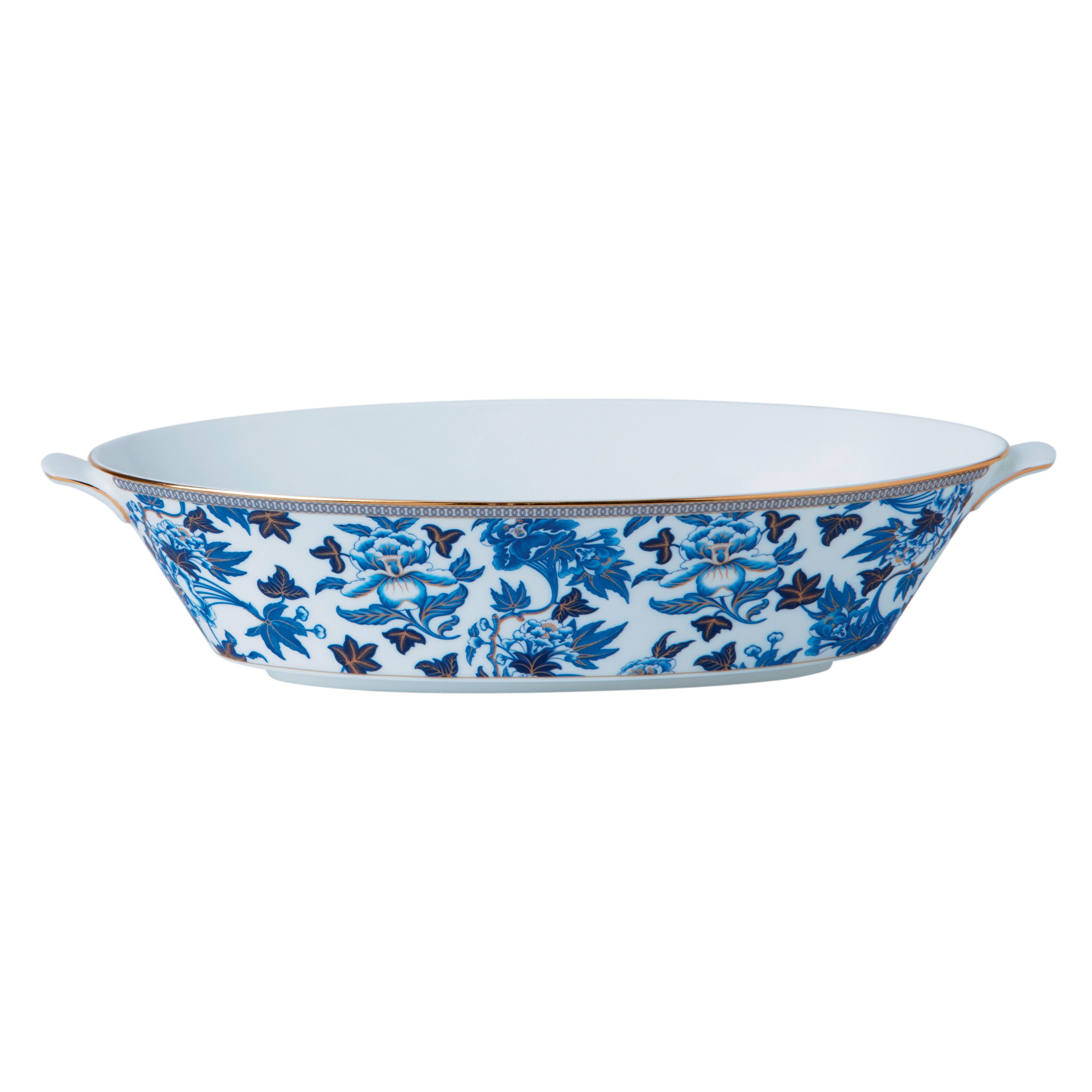 Wedgwood Hibiscus oval serving bowl 1.3ltr