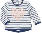 Baby Girls Striped Top With Lace Heart