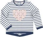 Girls Striped Top With Lace Heart