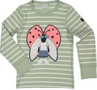 Polarn O. Pyret Kids Striped Appliqué Top