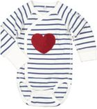 Polarn O. Pyret Babies Stripes Appliqué Bodysuit