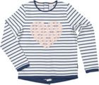 Polarn O. Pyret Girls Striped Top With Lace
