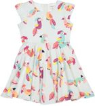 Polarn O. Pyret Girls Parrot Print Dress