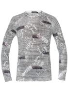 Men's Antony Morato Crew-Neck Sweater With Graffiti Print