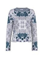 Stefanel Patterned Stretch Viscose Sweater