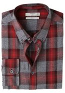 Men's Mango Slim-Fit Checked Cotton Shirt