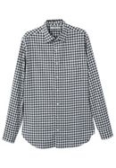 Men's Mango Slim-Fit Check Flannel Shirt
