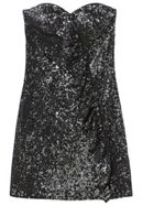 Mango Ruffle Sequined Dress