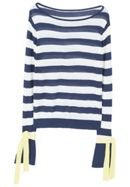 Bow Striped Sweater