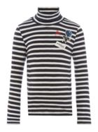 Pepe Jeans Girls Striped Turtle Neck
