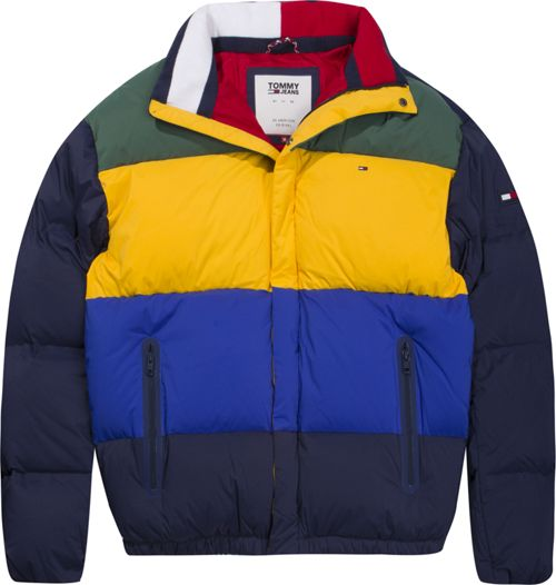 Tommy Hilfiger Tommy Jeans Colourblock Puffer Jacket House Of Fraser