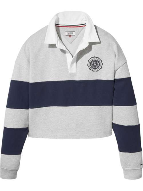 Tommy Hilfiger Tommy Jeans Cropped Rugby Top - House of Fraser 769f16a05684