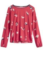 Sandwich Printed Blouse With Shoulder Button Detail