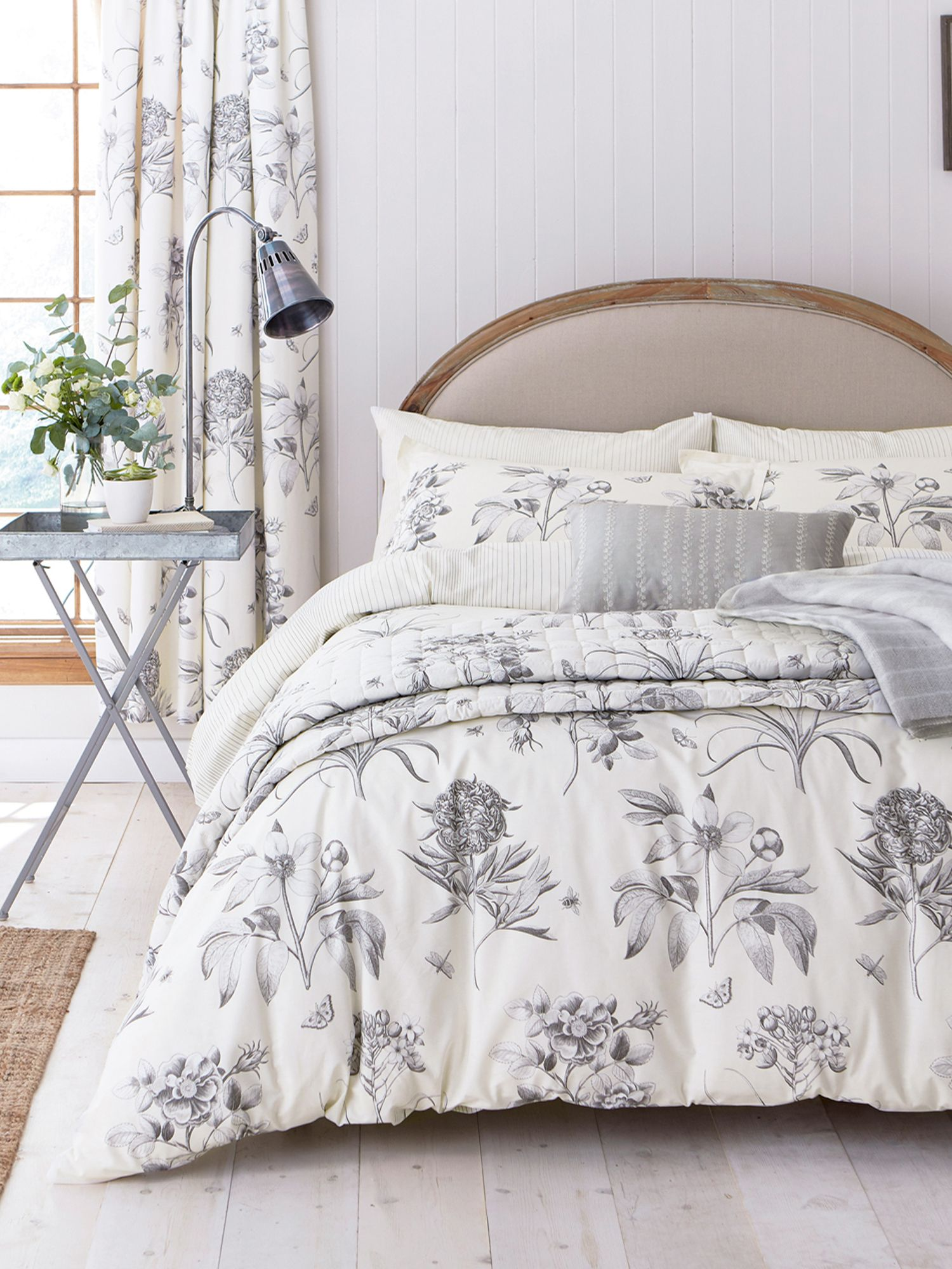 sanderson etchings roses bed linen range